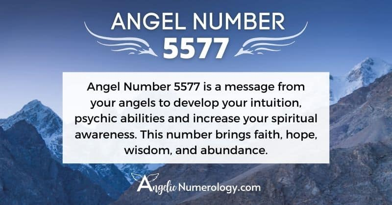 5577 Angel Number Meaning