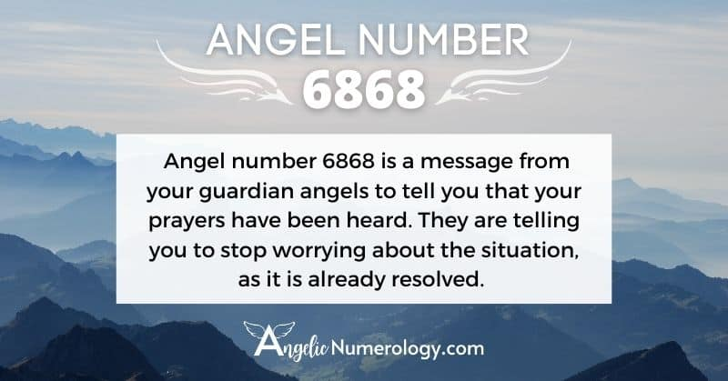 6868 Angel Number Meaning