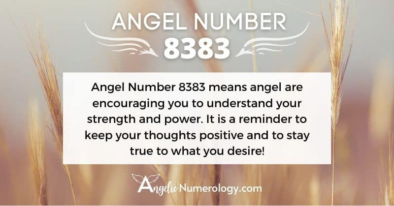 8383 Angel Number Meaning