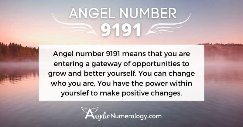 9191 Angel Number Meaning