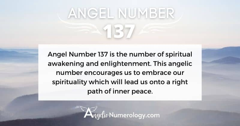 Angel Number 137 Meaning