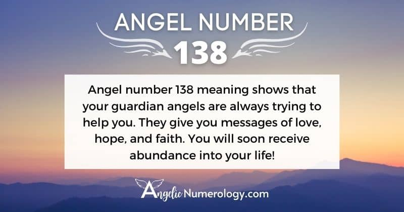 Angel Number 138 Meaning