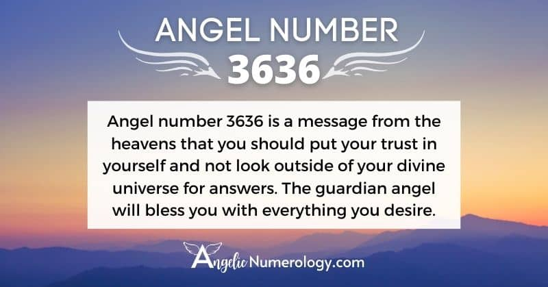 Angel Number 3636 Meaning